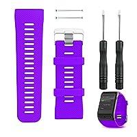 96062fd076237c ... Sostituzione cinturino per orologio Garmin Vivoactive HR, cinturino  braccialetto smartwatch in silicone per orologio fitness Garmin Vivoactive  HR(Viola)