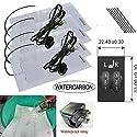 WATERCARBON wasserdicht Sitzheizung Für Toyota LAND CRUISER gewidmet 2-Rad Schalter Built-in Auto-Sitzheizung Heizung Pad-Auto-Sitzwärmer Abdeckungen Kit verwendet hochwertige Carbon-Faser-Premium White Heizkissen 2 Sitzplätze