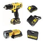 DeWalt dcd710C3F-qw Bohrschrauber, Taschenlampe, Batterie 3A