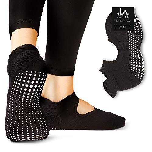 LA Active Calze Presa Antiscivolo Cotone Per Yoga Pilates Danza Sbarra Ballet