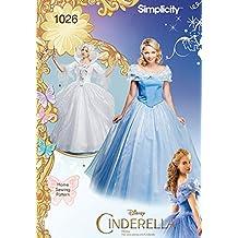 Simplicity 1026Tamaño H5Disney Cenicienta y Fairy Godmother Patrón de costura para disfraces de mujer (Tallas, multicolor