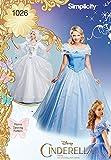 Simplicity 1026Tamaño H5Disney Cenicienta y Fairy Godmother Patrón de Costura para Disfraces de Mujer (Tallas