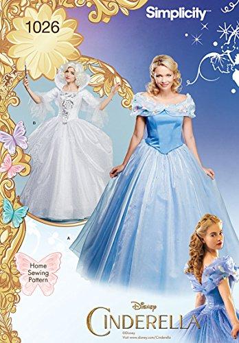 �ße H5Disney Cinderella und läßt Gute Fee Kostüme Schnittmuster, mehrfarbig (Y The Last Man Kostüm)