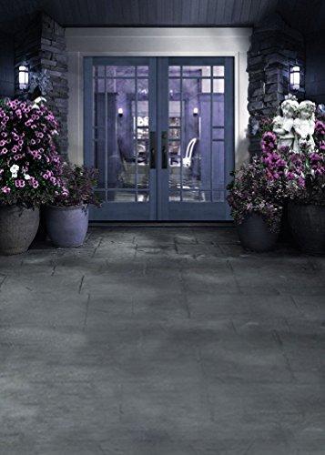 amonamour-haustr-szene-blumen-betonboden-boden-hochzeit-szene-studio-requisiten-fotografie-kulissen
