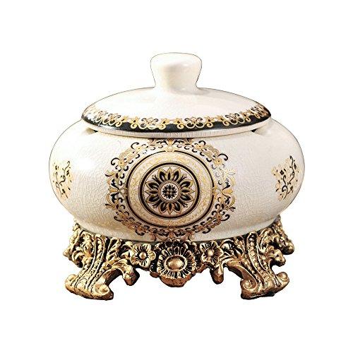 Monsiter Keramik Aschenbecher Wohnzimmer Dekoration klassischen Stil Retro und Eleganz-Gold