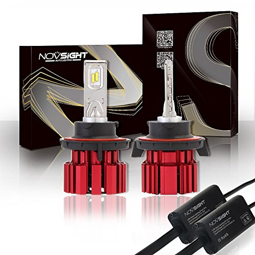 H1H4H7H11H13D1H15LED Car Headlight Bulbs Conversion Kit, Novsight H4LED auto lampadine 9000LM bianco freddo CREE LED Automotive guida faro lampadine