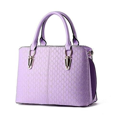 koson-man Femme simple Sling Sacs Sac à Poignée Supérieure Sac à main, violet (Pourpre) - KMUKHB227