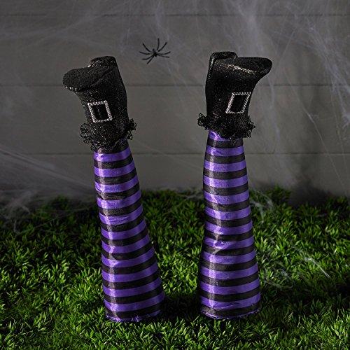 Halloween Hexenbeine mit Erdspießen Halloweendeko Lights4fun