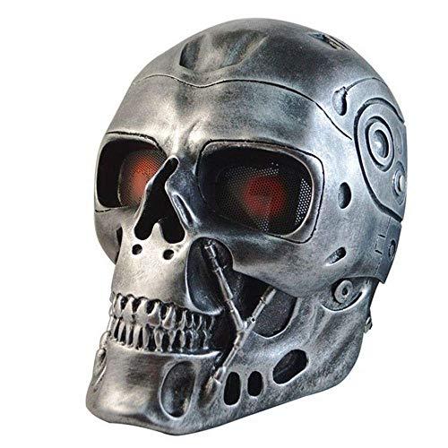 Militär Armee Taktische Airsoft Schädel Skeleton Vollschutzmaske CS Jagd Paintball Halloween Party Gesichtsmaske Cosplay Requisiten