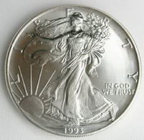 1993 US 999 SILVER EAGLE OUNCE OZ $1 DOLLAR COIN BU UNC by Twin City Gold