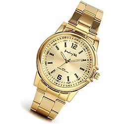 lancardo 30m Wasser widerstehen Luxus Herren Gold Ton Handgelenk Uhren mit japanischen Bewegung