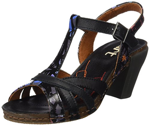 ART 0239 Fantasy I Feel, T-Strap Sandals Femme Noir (Black Chaos)