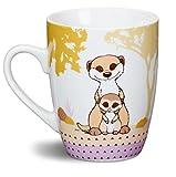 1 Tasse Erdmännchen mit Kind Porzellan