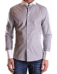 Dirk Bikkembergs Hombre MCBI097004O Gris Algodon Camisa