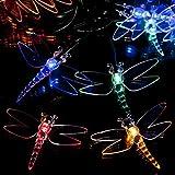 SPV Lights Guirlande Lumineuse Solaire LED Multicolore avec 100 libellules Les spécialistes de l'éclairage et de l'éclairage (Garantie 2 Ans Incluse)