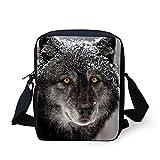 HUGS IDEA Y-C669E - Bolso cruzados para mujer lobo Small