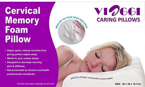 Viaggi Cervical White Travel Pillow (VIA0058)