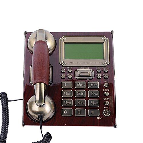 Antique Telefon Festnetz, die Klangqualität des Anrufs ist gut und nicht verzerrt, und die eingebaute Wecker Blitzschutz Freisprecheinrichtung Anruf-Voice-Bericht Funktion, zwei Farben sind verfügbar.