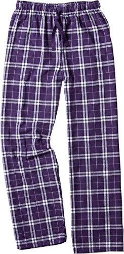 Boxercraft Plaid 100% Baumwolle Flanell Hose, Jugend Größen, Mädchen, violett / weiß, M (Boxercraft Flanell-hose)
