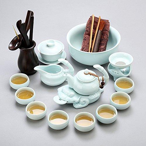 CUPWENH Kung – Fu – Teeservice, Familie Mini – Tasse, Einen Modernen Chinesischen Stil, Retro – Keramik, Seladongrüne,Tea Service, Coffee Set