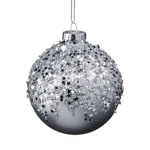BUTLERS HANG ON Glaskugel Sterne Ø 8 cm - Stylische Weihnachtsdeko -...