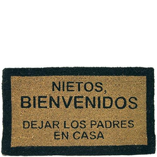 LAROOM 10704 - FELPUDO  NIETOS BIENVENIDOS DEJAR LOS PADRES EN CASA   COLOR MARRON