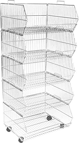 600mm-wide-zinc-storage-stacking-wire-baskets-heavy-duty-with-wheels-retail-display