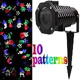 'Set '10Motive LED Projektor Lampe Außen Licht Garten Deko Beleuchtung wasserdicht Außen Landschaft Décor Party Weihnachten Teil Abend Projektor Light