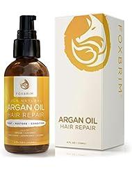 Foxbrim Arganöl Haar-Repair - 100% Natürlich –Ölaufbereitung zur Haarbehandlung - Arganöl mit Jojobaöl, Kokosnussöl und Sheabutter - Foxbrim 120 ml