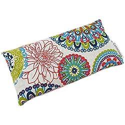 CARREDANA Almohadillas de Yoga de semillas de trigo con lavanda y eucalípto (1 saquito con semilla de trigo + lavanda, Mandala Azul)