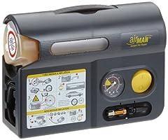 Idea Regalo - AirMan ResQ Pro Kit Riparazione Pneumatici e Gonfiatore Pompa 12v