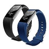 Bepack Fitbit Charge 2 Correa de Reemplazo, Pulsera de Silicona Suave Adjustable, Accesorios para Fitbit Charge 2
