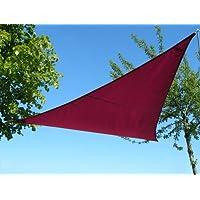 Kookaburra Wine/Burgundy Waterproof Shade Sail - 5m Triangle