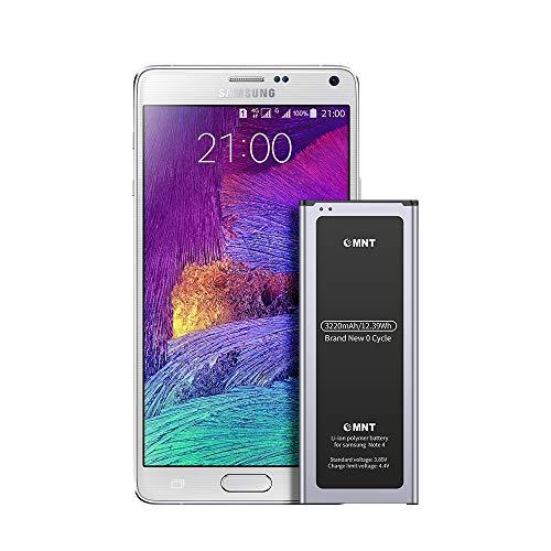 EMNT Batterie pour Samsung Galaxy Note 4 3220mAh Batterie Note 4 d'origine de Lithium-ION Correspond à l'EB-BN910BBE SM-N910 SM-N910F SM-N9100 SM-N910H Remplacement avec Haute Capacité sans NFC