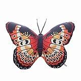 NACOLA 3D-Kissen, lebensechte Schmetterlinge, weich, kurz, Plüsch, Stofftier für Zuhause, Bett, Wohnzimmer, Auto, Stuhl, Dekoration, Kinder-Geschenk, Orange, 40x50cm