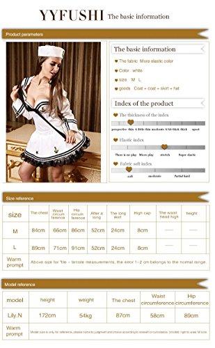 FLH Uniformi Navy Halloween Temptation Set Costumi Cosplay Uniformi di gioco erogeno ( Colore : Bianca , dimensioni : M ) Bianca
