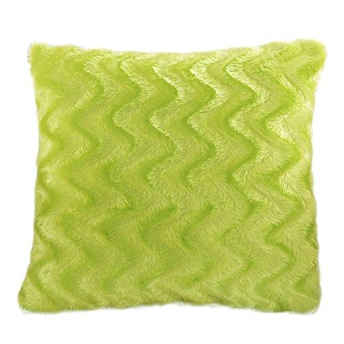 aikesi Kissenbezug Deko-Plüsch Farbe Glitzer 45*45cm grün