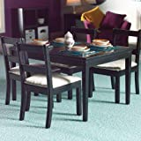 The Dolls House Emporium Black Dining Table & Four Chairs