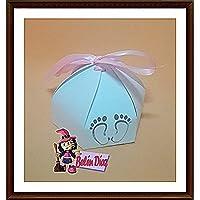 50 Caja Recuerdo Bautizo Babyshower YA MONTADAS, para caramelo Bombones Regalos Detalles para Invitados de Fiesta o Bautizo