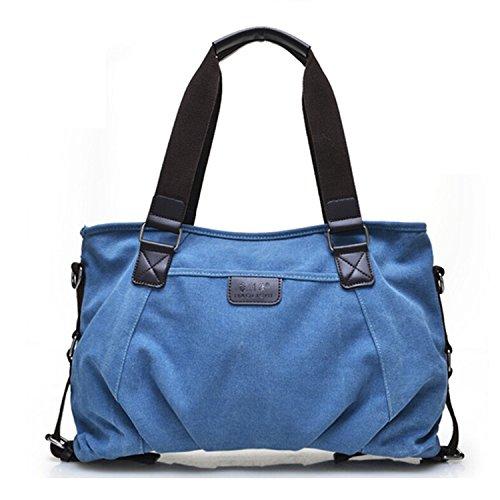 Tiny Chou, da donna, stile Vintage, con borsa a tracolla in tela con tracolla rimovibile Blu (blu)