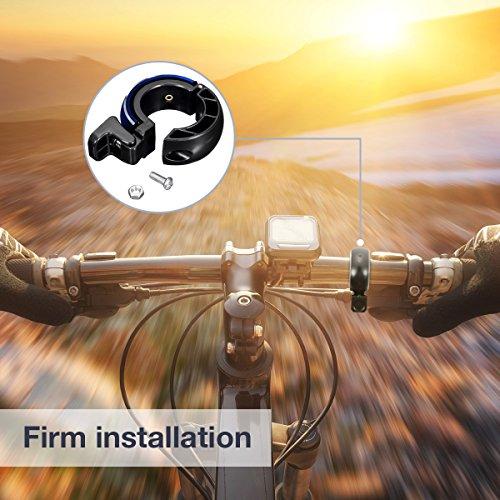Fahrradklingel Laut,SGODDE O Design Fahrradglocke Radfahren Fahrrad für Alle Fahrrad (2 Farben,Lenker Alarm Horn Ring 22.2-24mm) - 5