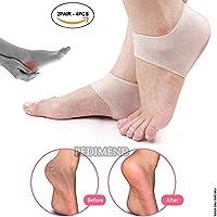 pedimend Silikon Gel Fersenschutz (2pair–4) | Plantarfasziitis Weiche Socken für harte/gebrochenen/trockene... preisvergleich bei billige-tabletten.eu