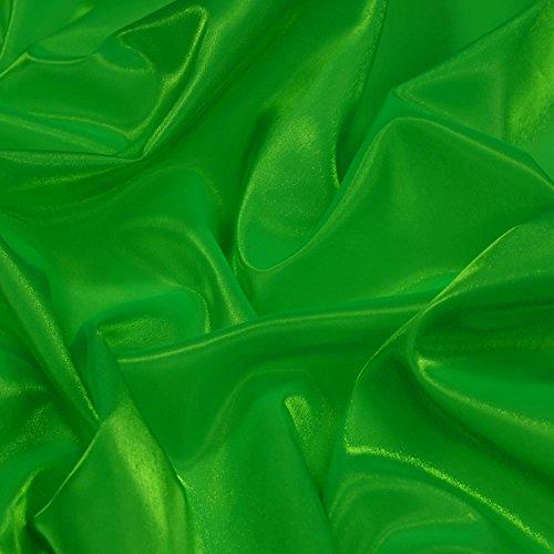 Stoffe Irish Kostüm Dance - Smaragd Grün Twinkle Shiny Seidiger Satin Irish Kleid & Dance Stoff 114,3cm 114cm Breite, Meterware,...