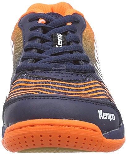 Kempa - Attack One Junior, Sneakers infantile Blu (Bleu (Marine/Orange/Blanc))