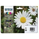 Original Tinte Epson 18 C13T18064012-4x Premium Drucker-Patrone - Schwarz Foto, Cyan, Magenta, Gelb - 1x175, 3x180 Seiten