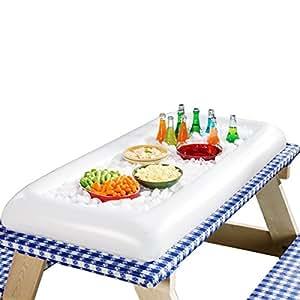 ECHTPower Aufblasbare Buffet Salat Getränke Schwimmende Bar Eis Kühlen für Oktoberfest, Weihnachtszeit, Grillfeier, Gartenpartys 1 Stück