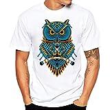 ♚Blusa de los Hombres, Camiseta de la Impresión de la Moda Camisetas de Impresión Camisa de Manga Corta...