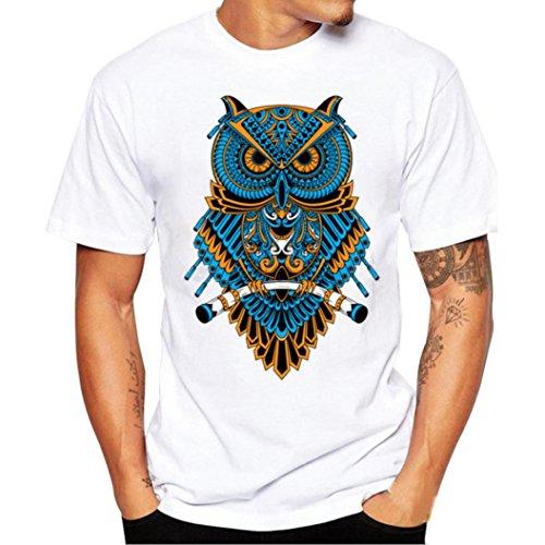 ♚Blusa de los Hombres, Camiseta de la Impresión de la Moda Camisetas de Impresión Camisa de Manga Corta Camiseta Blusa Absolute