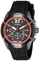 Citizen Chronograph Black Dial Mens Watch-CA4105-02E