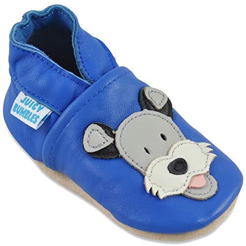 Juicy Bumbles Lauflernschuhe - Krabbelschuhe - Babyhausschuhe - Blauer Duky Hund 18-24 Monate (Größe 24/25)